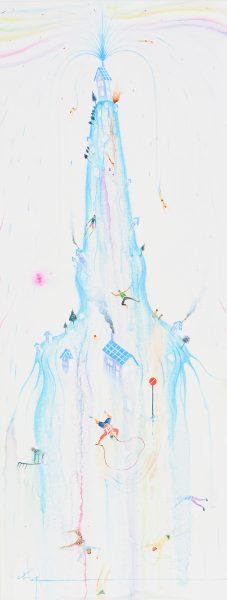 みずのほし 2011 キャンバス 油彩 53×20㎝ 個人蔵