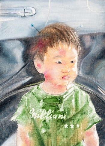 Earth Boy:パトカー 2014 キャンバス 油彩 33.3×24.2㎝