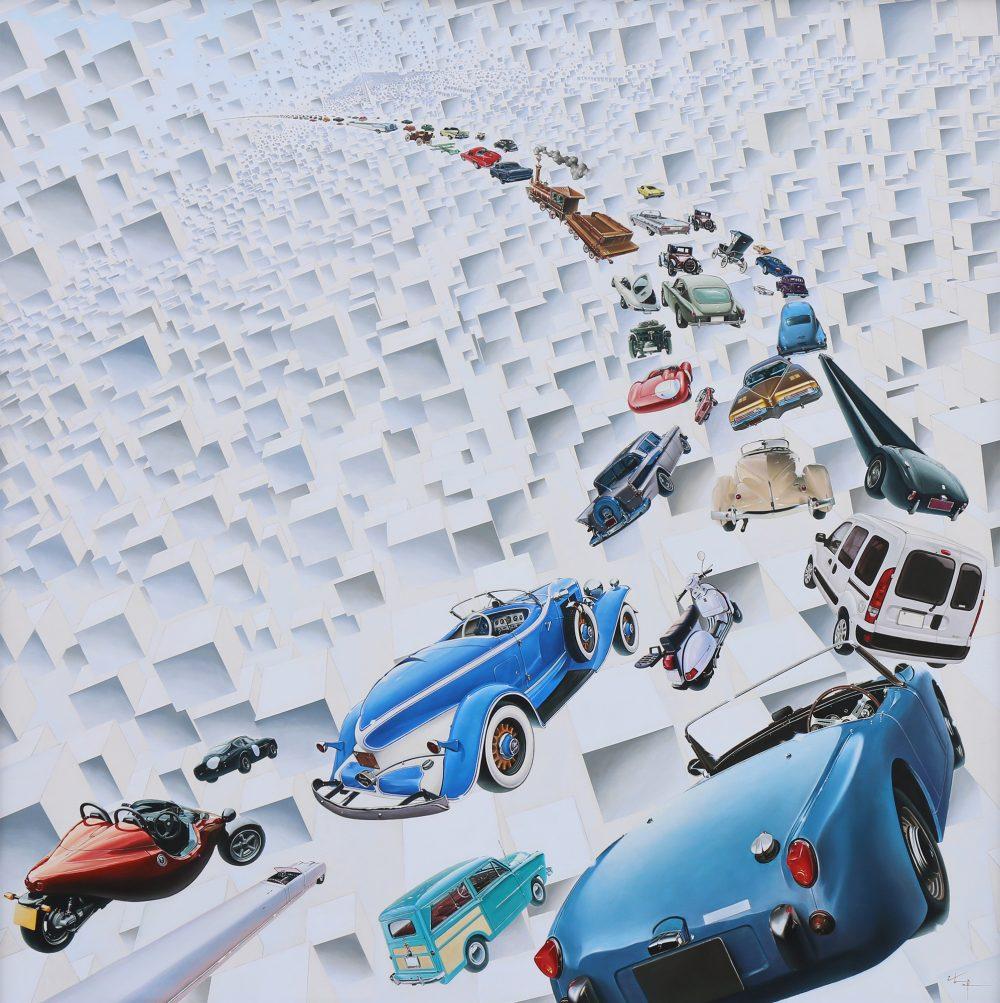 永遠の個 2009 板 白亜地 油彩 162.1×162.1cm © ISHIYAMA Hiromichi